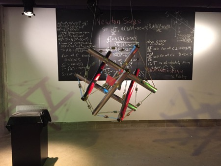 Tesegrity sculpture defined by math equations