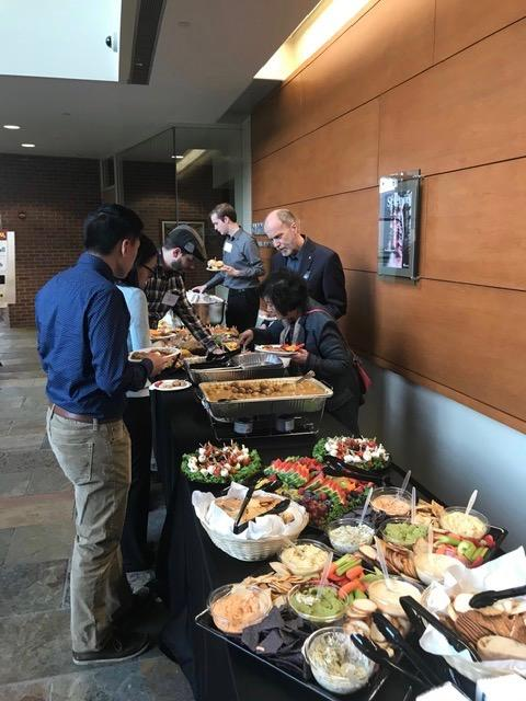 Food at the Scholar event