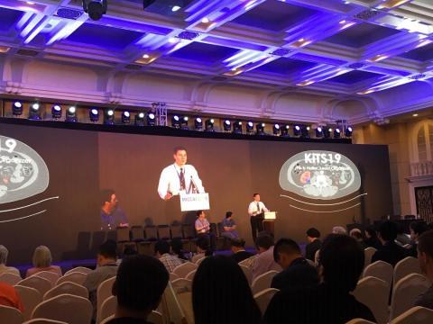 Chris Heller giving a presentation