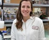 Amy Hauck in Lab